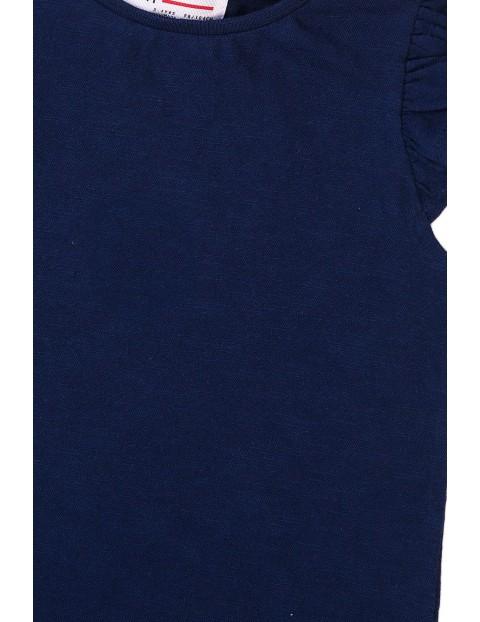 Bawełniana bluzka dziewczęca granatowa