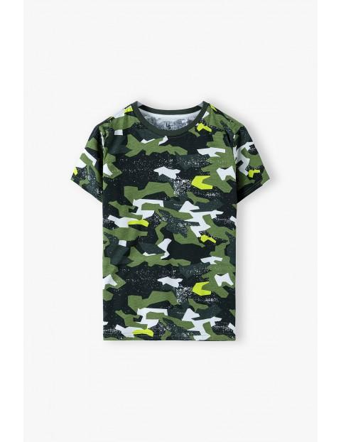 T-shirt chłopięcy dzianinowy - moro