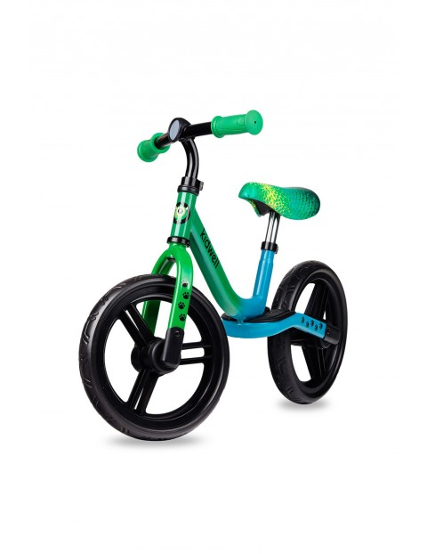 Rower biegowy dla dziecka Sparrow Dino-niebiesko-zielony