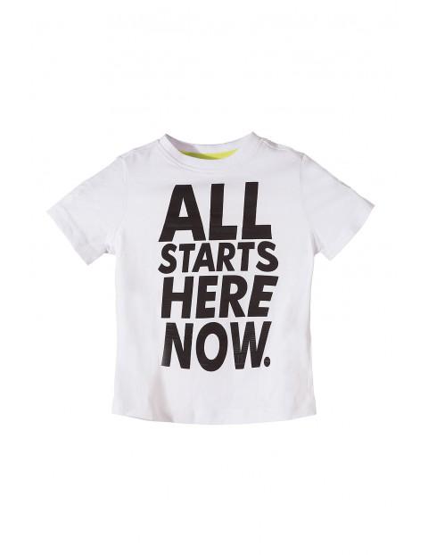 T-shirt chłopięcy dzianinowy 1I3470