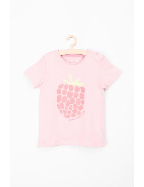 Różowy t-shirt dla niemowlaka- słodka wczasowiczka