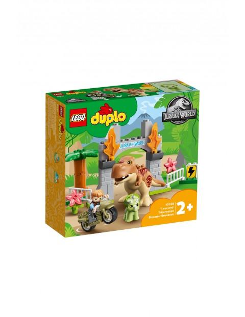 LEGO® DUPLO® Jurassic World Ucieczka tyranozaura i triceratopsa - 36 elementów, wiek 2+