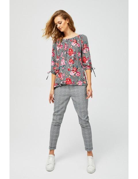 Bluzka damska typu hiszpanka w kwiaty