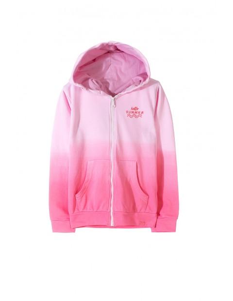 Bluza dresowa dla dziewczynki- różowa