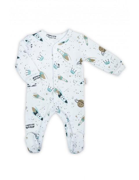 Bawełniany pajac dla niemowlaka - rakiety