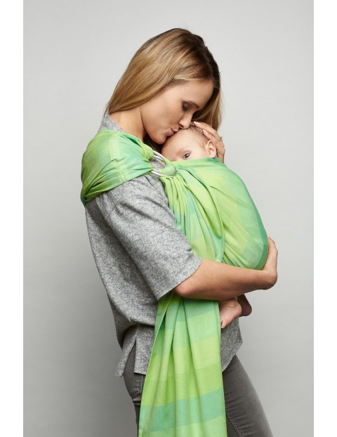Chusta Zaffiro Hug Me Eco paski seledynowe 0msc+