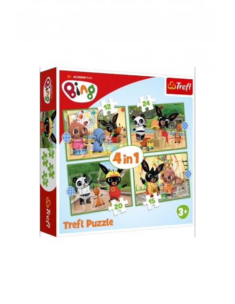 Puzzle 4w1 - Wesoły dzień Binga / Acamar Films Bing wiek 3+