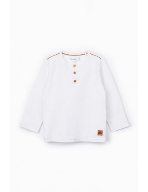 Bluzka niemowlęca z długim rękawem- biała