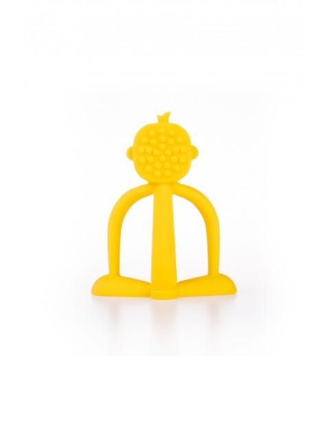 Gryzak uspokajający małpka GiliGums - żółty - 3msc+