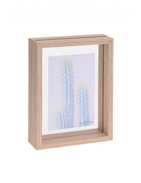 Ramka na zdjęcie podwójne szkło  13,8,x18,9x4,0 cm
