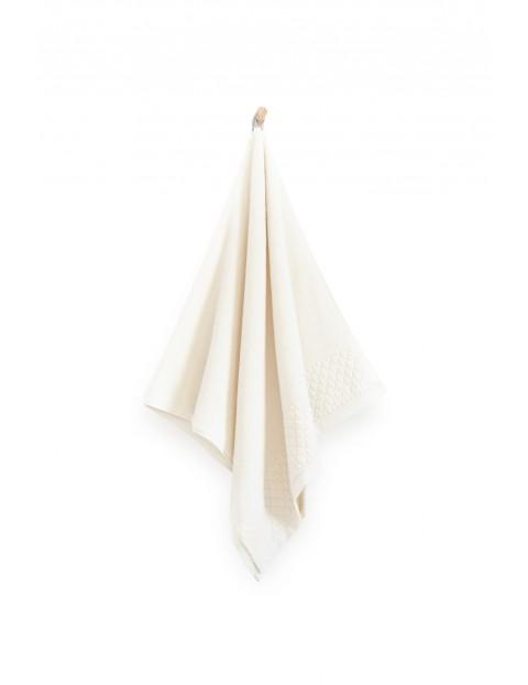 Ręcznik antybakteryjny Carlo z bawełny egipskiej kremowy - 70x140 cm