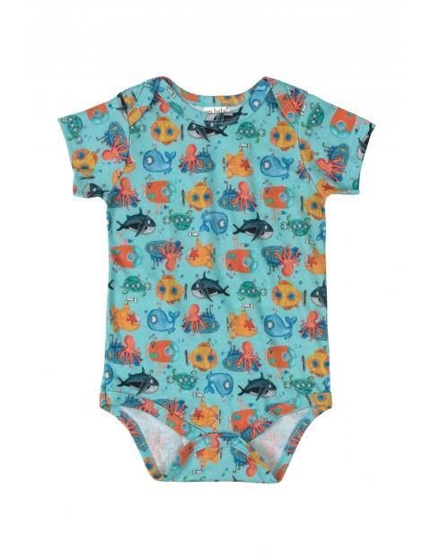 Body niemowlęce - podwodny świat - niebieskie