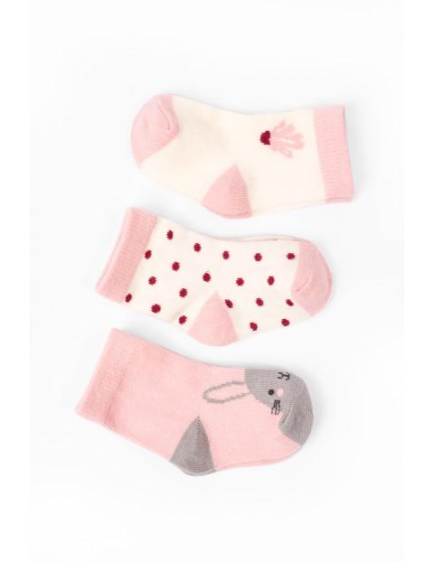 Kolorowe skarpetki dla niemowlaka 3pak