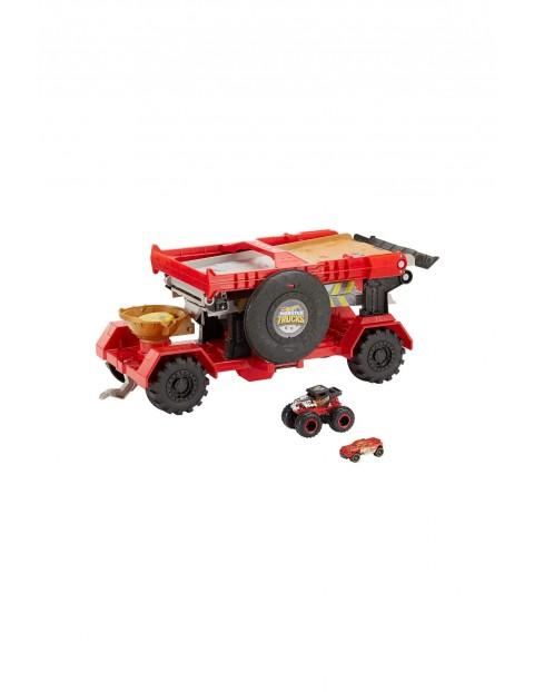 Hot Wheels Monster Trucks Meganaczepa z rampą - zestaw kaskaderski 2w1 wiek 4+