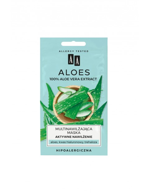 AA Aloes multinawilżająca maska aktywne nawilżenie 2x4 ml
