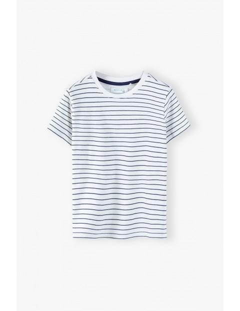 T-shirt chłopięcy w kolorze białym w paski