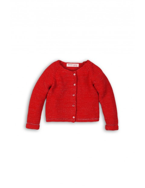 Sweter dla dziewczynki - czerwony