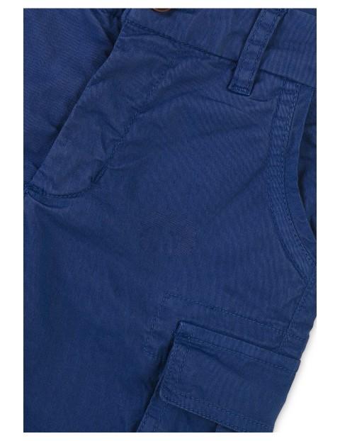 Bawełniane szorty chłopięce niebieskie
