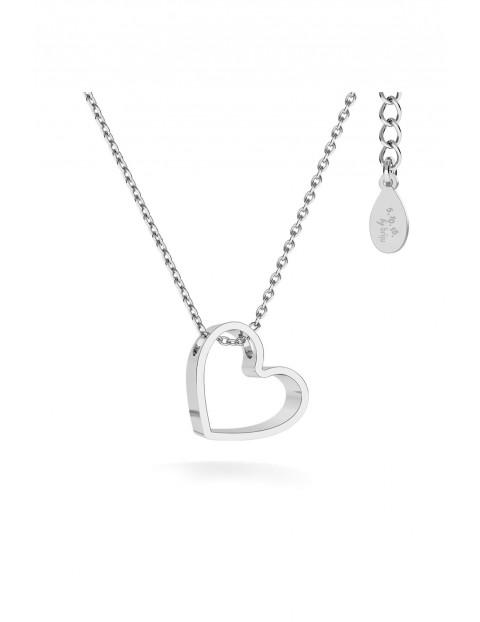 Naszyjnik srebrny Briju- Serce Pełne
