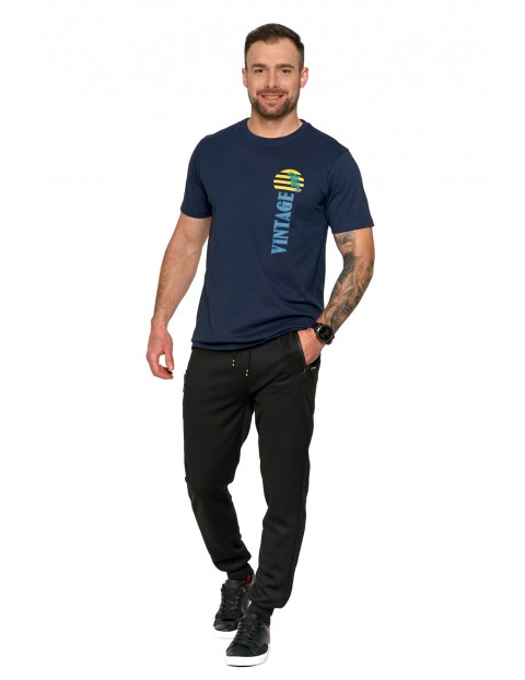 Modna bawełniana koszulka męska z nadrukiem