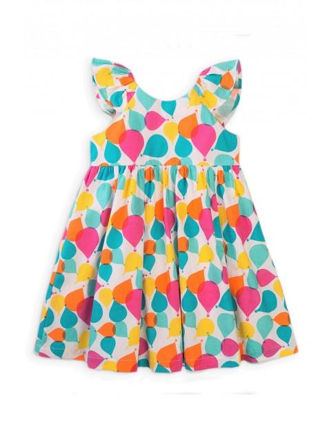 Bawełniana sukienka niemowlęca w baloniki