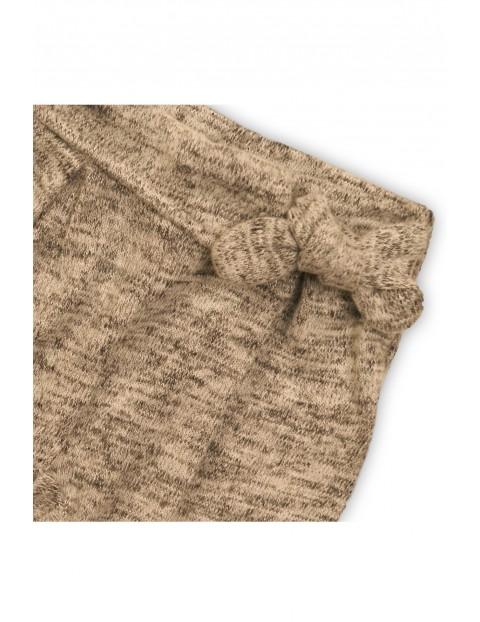 Spodnie dzianinowe dla niemowlaka- szare