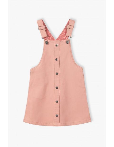 Sukienka ogrodniczka - różowa