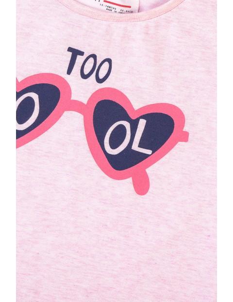 T-shirt dziewczęcy z kolorowym nadrukiem Cool