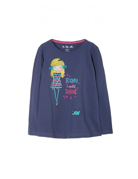 Bluzka dziewczęca długi rękaw 3H3231