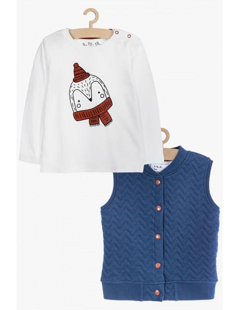 Kamizelka i bluzka dla chłopca