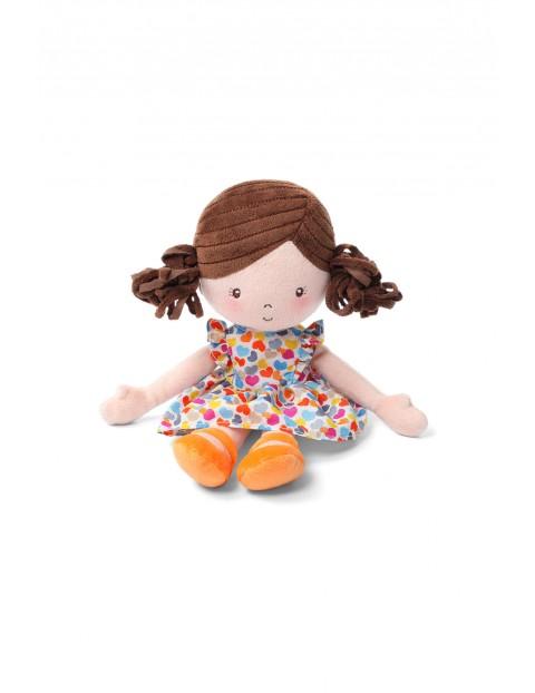 Przytulanka dla niemowląt Lalka Lena pomarańczowy