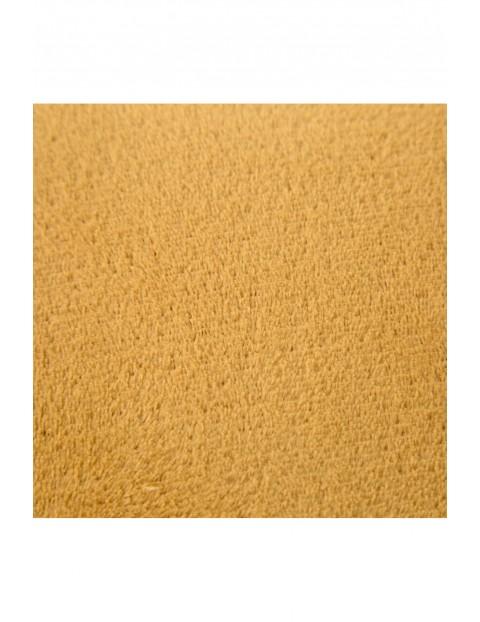 Gładki koc z mikrofibry - miodowy - 150x200cm