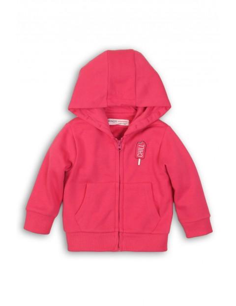 Bluza dresowa dziewczęca różowa rozpinana