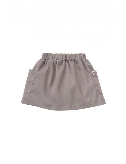 Bawełniana spódnica z kieszonkami - szara