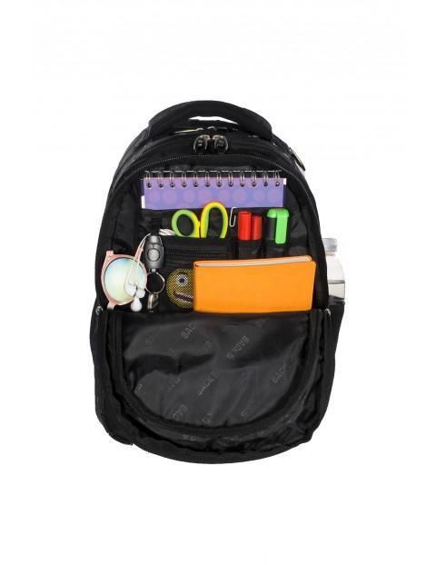 Plecak szkolny BackUP +Słuchawki - ciemnoróżowy