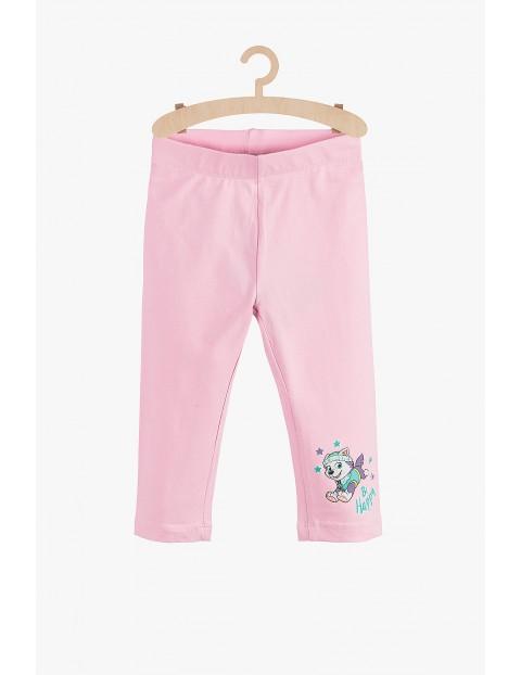 Legginsy 2/3 dziewczęce Psi Patrol różowe