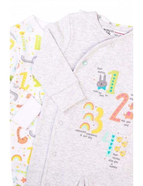 Bawełniane śpiochy niemowlęce- 2-pak