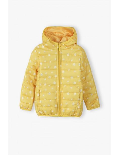 Kurtka przejściowa dziewczęca pikowana - żółta