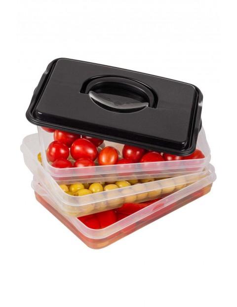 Pojemniki na wędliny i sery 3-poziomowe do lodówki