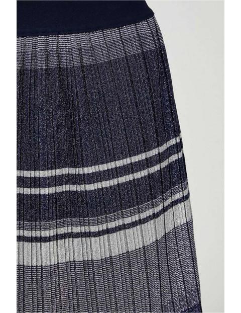 Spódnica damska plisowana w paski