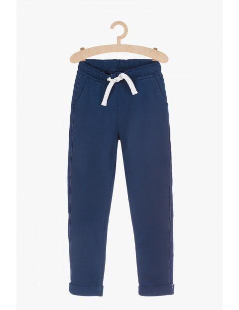 Spodnie dresowe dla dziewczynki- granatowe