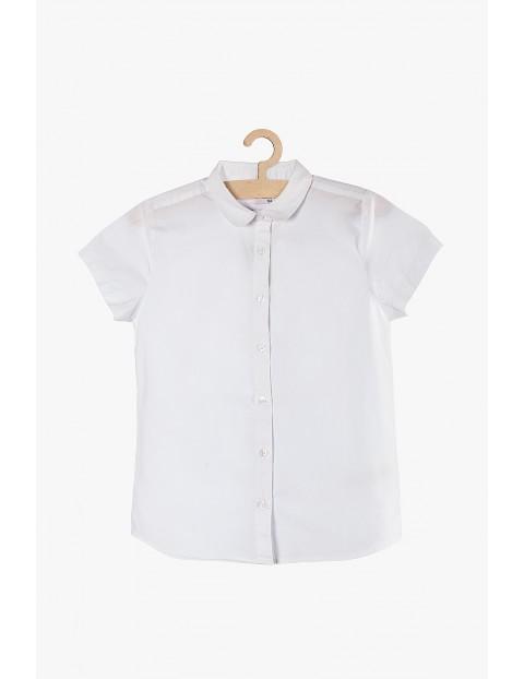 Koszula dziewczęca rozpinana biała z krótkim rękawem