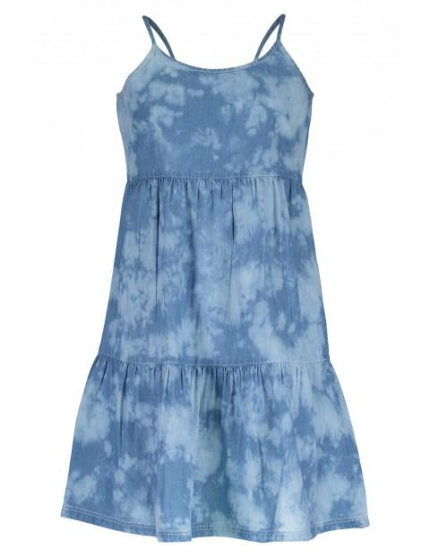 Sukienka dziewczęca niebieska na ramiączka
