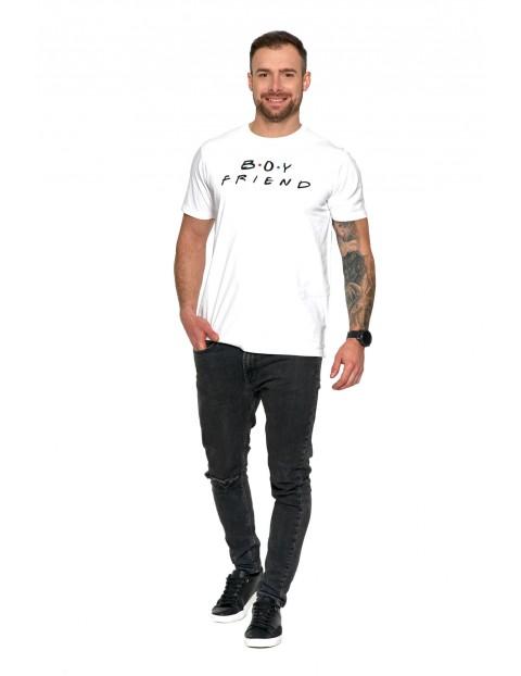 Koszulka dla par zakochanych z nadrukiem - Boy friend