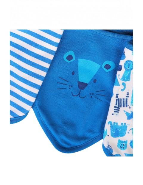 Bawełniany śliniaki niemowlęce - 3pak