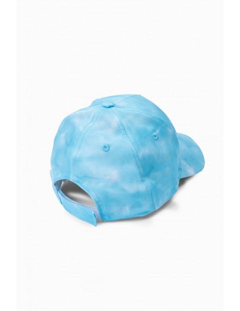 Niebieska czapka z daszkiem dla dziewczynki