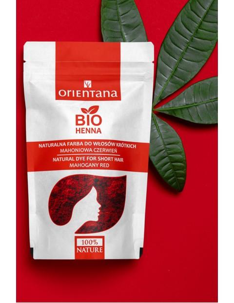 Orientana BIO Henna do włosów MAHONIOWA CZERWIEŃ 50g