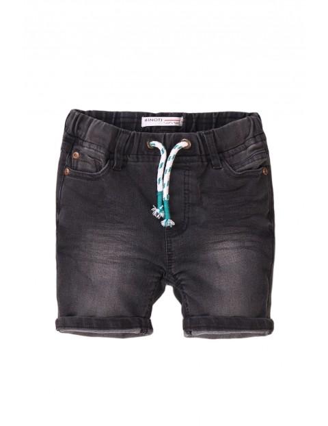 Szorty chłopięce jeansowe czarne