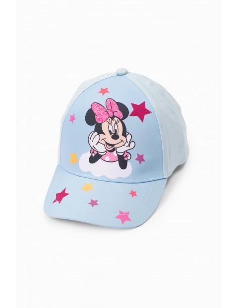 Czapka z daszkiem Myszka Minnie- niebieska