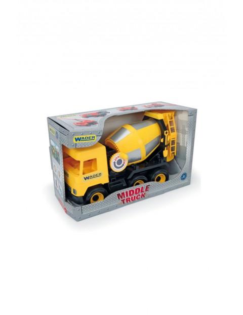 Samochód betoniarka żółta